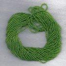 Transparent Rainbow/AB Lime Green Czech 11/0 Glass Seed Beads HANK