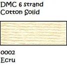 DMC 6 Strnd Cotton Embroidery Floss Ecru 0002