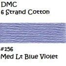 DMC 6 Strnd Cotton Embroidery Floss Medim Lt Blue Violiet 156