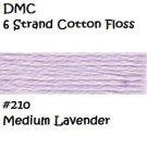 DMC 6 Strnd Cotton Embroidery Floss Medium Lavender 210