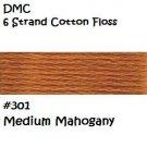 DMC 6 Strnd Cotton Embroidery Floss Medium Mahogany 301
