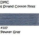 DMC 6 Strnd Cotton Embroidery Floss Pewyer Gray 317