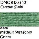 DMC 6 Strnd Cotton Embroidery Floss Medium Pistachio 320