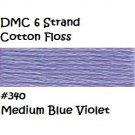 DMC 6 Strnd Cotton Embroidery Floss Medium Blue Violet 340