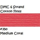 DMC 6 Strnd Cotton Embroidery Floss Md Coral 350