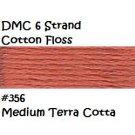 DMC 6 Strnd Cotton Embroidery Floss Md Terra Cotta 356
