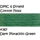 DMC 6 Strnd Cotton Embroidery Floss Dk Pistachio Green 367