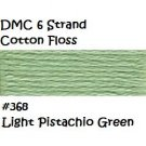 DMC 6 Strnd Cotton Embroidery Floss Lt Pistachio Green 368