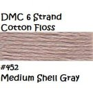 DMC 6 Strnd Cotton Embroidery Floss Md Shell Gray 452