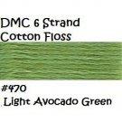DMC 6 Strnd Cotton Embroidery Floss Lt Avocado Green 470