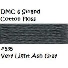 DMC 6 Strnd Cotton Embroidery Floss Vry Lt Ash Gray 535
