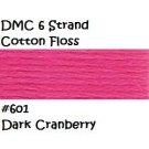 DMC 6 Strnd Cotton Embroidery Floss Dk Cranberry 601