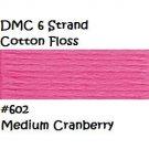 DMC 6 Strnd Cotton Embroidery Floss Medium Cranberry 602