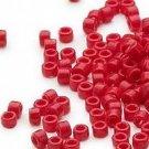 Miyuki #723 Opaque Dark Red Delica Round Seed Beads