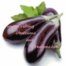 Eggplant Cross Stitch Chart