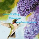 Hummingbird in the Lilacs Cross Stitch Chart
