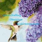 Hummingbird in the Lilacs Cross Stitch Chart
