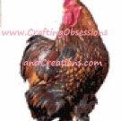 Golden Laced Cochin Cross Stitch Chart