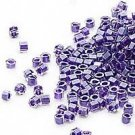 Miyuki #923 Color Lined Grape Delica Round Seed Beads