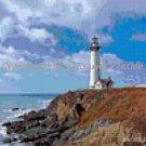 Turquoise Sky Lighthouse Cross Stitch Chart