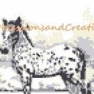 Monochromatic Appaloosa Foal Cross Stitch Chart