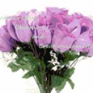 Roses Bouquet in Lilac Cross Stitch Chart