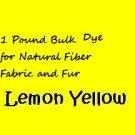 Lemon Yellow PRIMARY 1 POUND of Powder Dye/Paint Natural Fabric Fiber or Fur
