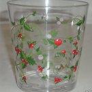 Delicate Berries DOF Acrylic Glasses 6 NEW Winterberry