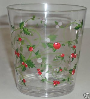 Delicate Berries DOF Acrylic Glasses 6 NEW Winterberry