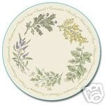 Corelle Thymeless Herb Lazy Susan NEW Tempered Glass