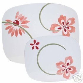 Corelle Pretty Pink Stove Mats Set of 2 NEW Counter