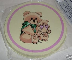 Teddy Bears Stovetop Burner Cover Set of 4 NEW