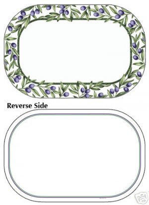 Corelle Olive Branches Placemats 6 NEW Deco Reverse