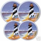 Lighthouses Stovetop Burner Cover Set of 4 NEW