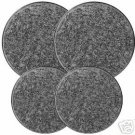 Granite Color Black/White Stovetop Burner Covers 4 NEW