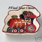 Pfaltzgraff Holiday Garland Train Tidbit Dish Bowl NEW