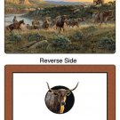 The Last Crossing Reversible Placemats 6 NEW Cattle