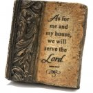Inspirational Stone Tablet As for Me & My House Lord NU