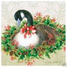 Gooseberry Wreath Glass Coasters 4 w/Holder NEW USA