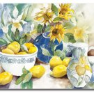 Lemon Table Sunflower Yellow Cutting Board NEW Glass