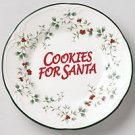 Pfaltzgraff Winterberry Cookies for Santa Plate NEW