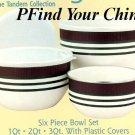 Pfaltzgraff Tandem 6 Pc Bowl Set Large NEW