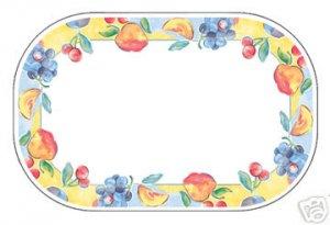 Corelle Fruit Basket Placemats 6 NEW Foam Reversible