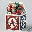 Pfaltzgraff Holiday Garland Candy Dish ABC's NEW