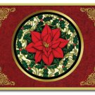 "Poinsettia Tempered Cutting Board NEW Glass 12"" x 15"""