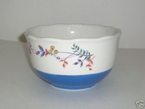 Pfaltzgraff Paradise Bloom Blue Soup Cereal Bowl NEW