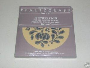 Pfaltzgraff Folk Art Burner Cover Small Trivet Enamel