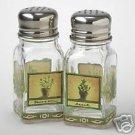 Pfaltzgraff Naturewood Glass Salt & Pepper Shakers NEW