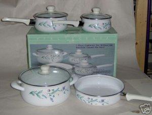 Pfaltzgraff April 7 Pc Cookware Set NEW Pots Pans