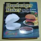 Microwave Hamburger Patty Maker NEW Moist Fresh Burgers